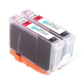 2 magenta wkłady atramentowe, aby zastąpić Canon CLI-8M Kompatybilny / non-OEM z Go Atramenty