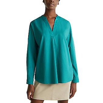 Esprit Women's Organic Cotton Henley Tunic Γυναικεια Πρασινη