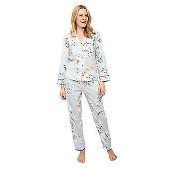 Cyberjammies Nora Rose Emelia 1423 Naiset's Harmaa Kukka Tulosta Pyjama Set