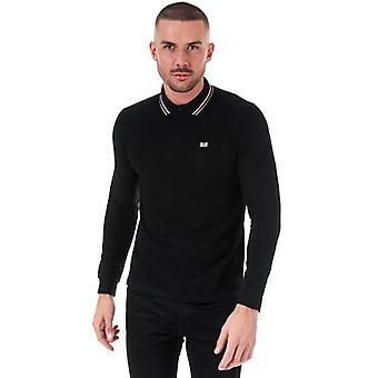 Men's Weekend Offender Drills Long Sleeve Polo Shirt in Black