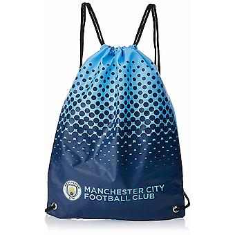 Manchester City FC Official Fade Football Crest Drawstring Sports/Gym Bag
