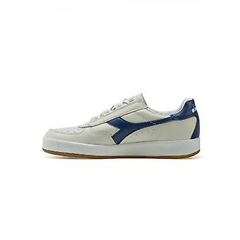Diadora B.Elite L White & Saltire Navy Full Grain Leather Sneaker