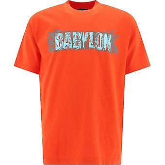 Babylon La B20p101016org Men's Orange Cotton T-shirt