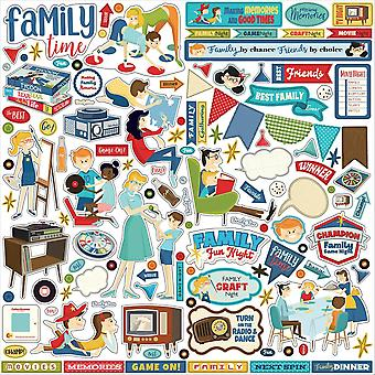 Carta Bella Family Night 12x12 Inch Element Sticker