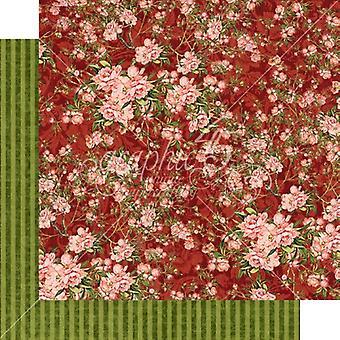 Grafik 45 Burgund Blüten 12 x 12 Zoll Papier pack
