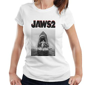 Jaws 2 Women Wakeboarding Black And White Women's T-Shirt