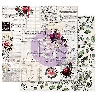 Prima Marketing Midnight Garden 12x12 Inch Sheet Rose Reçus