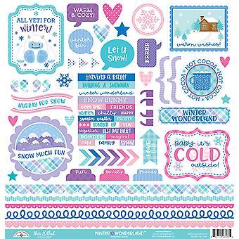 Doodlebug Design Winter Wonderland Questo & Che gli adesivi