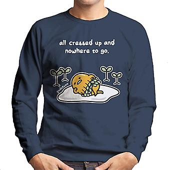 Gudetama All Cressed Up And Nowhere To Go Men's Sweatshirt