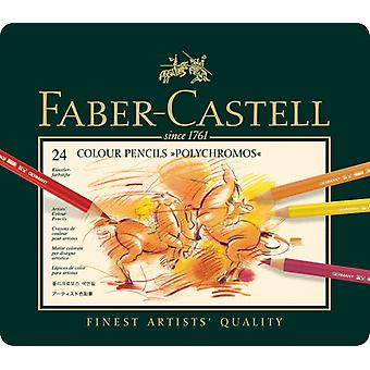 Faber Castell Color Crayon Polychromos Carton Box 24 Pieces