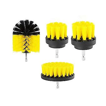 4 pieces set 2/3.5/4/5 inch All Purpose Drill Brush (Yellow)