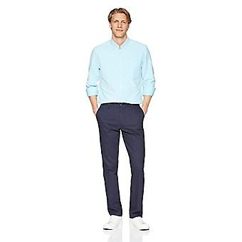 """Brand - Goodthreads Men's """"The Perfect Oxford Shirt"""" Slim-Fit Long-Sleeve Solid with Pocket, Turquoise, Medium"""