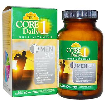 Country Life, Core Daily-1 Multivitamines, Hommes 50+, 60 Tablettes