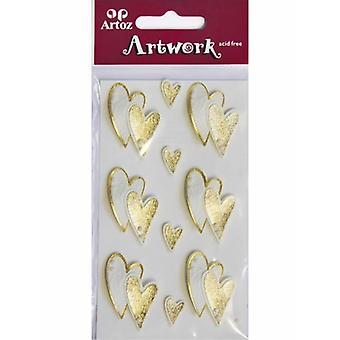 Golden Hearts Craft Embellishment By Artoz