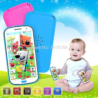 Russian Language 4D Cartoon Bears Anime Learning Mobile Phone Toy with Light- Record and Song Story Machine Yphone for Baby Toy