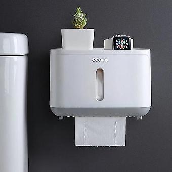 Többfunkciós dupla tároló hordozható falra szerelt WC-papír tartó papír