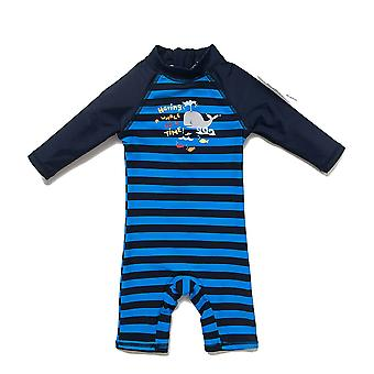 Bonverano Baby Boy's One Piece UPF 50+ Sun Protection SS Zip Sunsuit Swimsuit