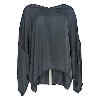 Du Jour Women'top V-Neck Drop Shoulder Blouse Gray A374142