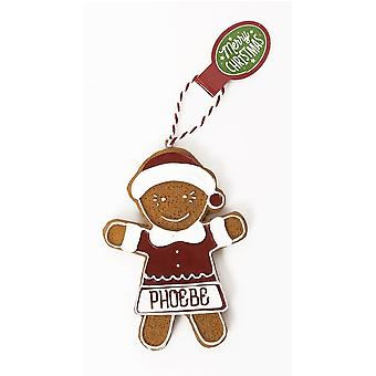 History & Heraldry Personalised Gingerbread Tree Decorations - Phoebe