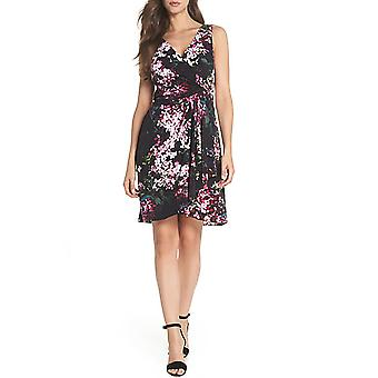 Adrianna Papell | Floral Print Twist Front Dress