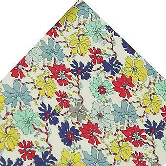 タイズプラネットヴァンバックシー花びらの花柄ポケットスクエアリバティファブリックで作られました