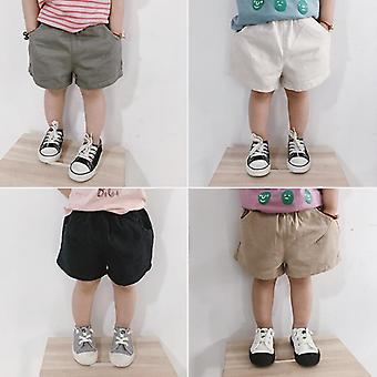 Boys Summer Casual All-match Solid Color Shorts, Korean Style Kids Loose Shorts