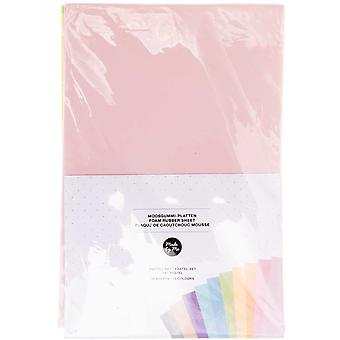 10 Assorted Sheets of A4 Pastel Craft Foam - 2mm Thick