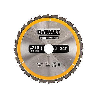 DEWALT Construction Circular Saw Blade 216 x 30mm x 24T DEWDT1952QZ