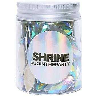 Shrine Individual Loose Face, Hair And Body Jewels Pot - Opal - Iridescent