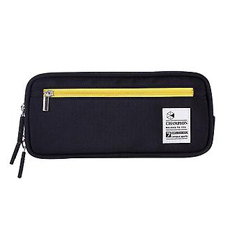 Zipper Pencil Case, Twill Canvas, Large Pen Box, Pencil Bag For Student, Girl,