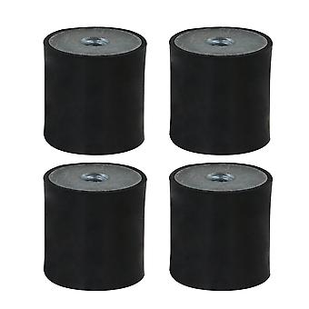 4x Rubber Shock Absorber 25x25MM Anti-shock M6 Thread Mount Isolators