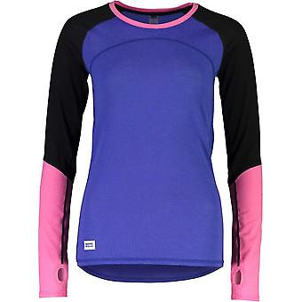 Mons Royale Women's Bella Tech LS - Blue/Black
