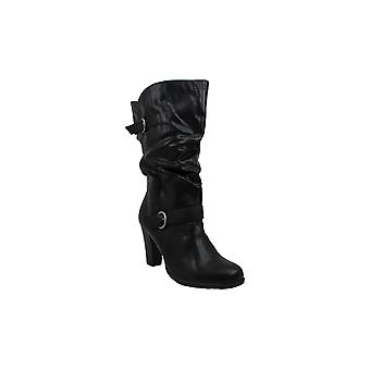 Style & Co. Womens sachi Leather Almond Toe Mid-Calf Fashion Boots