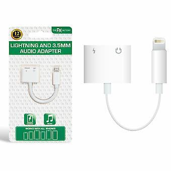 FX Earphone and Iphone Splitter Adapter White