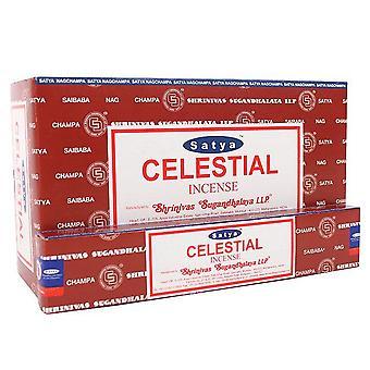Satya Celestial Incense Sticks (Box Of 12 Packs)