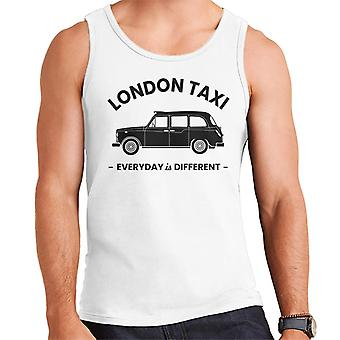 London Taxi Company Everyday Is Different Black Text Men's Vest