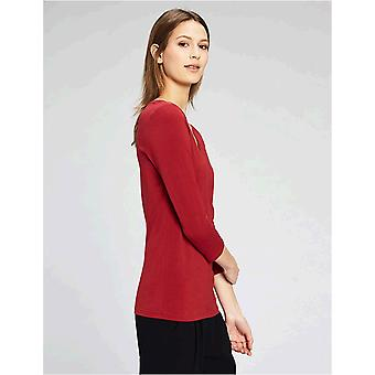 Brand - Daily Ritual Women's Stretch Supima 3/4-Sleeve V-Neck T-Shirt,...