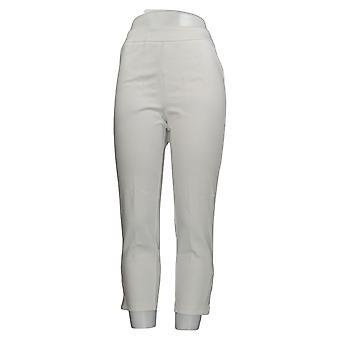 Joan Rivers Women's Petite Pants Signature Ankle White A378288