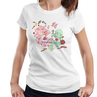 Care Bears Christmas Lotsa Heart Elephant Feestelijke Candy Women's T-Shirt