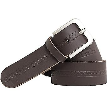 Shenky leather belt 4cm with stainless steel buckle and pattern