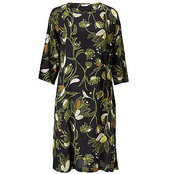 Masai Clothing Nonie Green Floral Design Dress