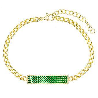 Pave Smaragd Kette Armband
