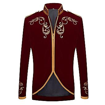 Men Palace, Prince Velvet, Gold Embroidery Blazer, Wedding, Groom, Singers