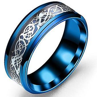 Anéis de fibra de carbono de aço de titânio modam joias