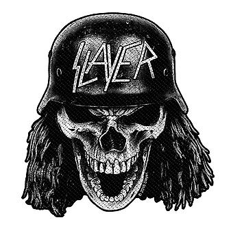 Slayer Patch Wehrmacht Skull Band Logo Cut Out new Official Black Woven
