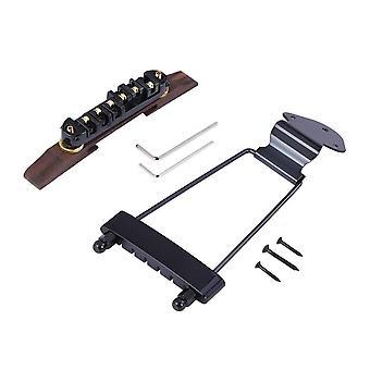 6-String Archtop Jazz Guitar Rosewood Bridge Altura Ajustável Tailpiece Trapeze para Jazz Stringed Instruments Parts Black
