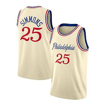 Philadelphia 76ers Simmons Loose Basketball Jersey Sport Shirts 3QY004