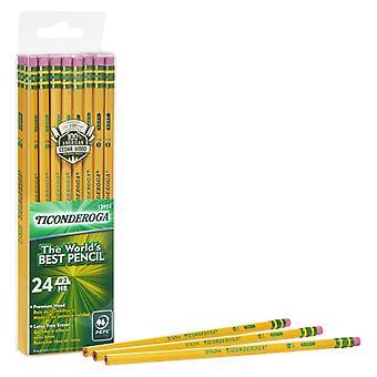 Pencils, #2 Soft, Yellow, Unsharpened, Pack Of 24