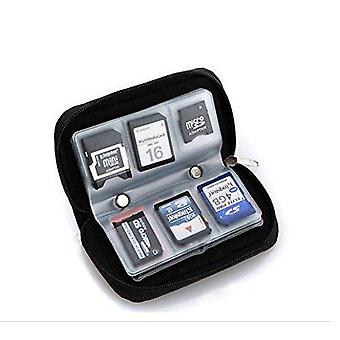 Memory card carrying case - suitable for sdhc and sd microsd cf ms xd cards - 8 pages and 22 slots,