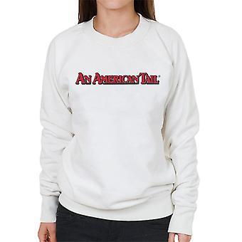 Ein amerikanischer Schwanz klassische rote Text Logo Frauen's Sweatshirt